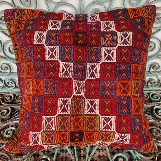 Vintage Kilim Floor Cushion-Klm145