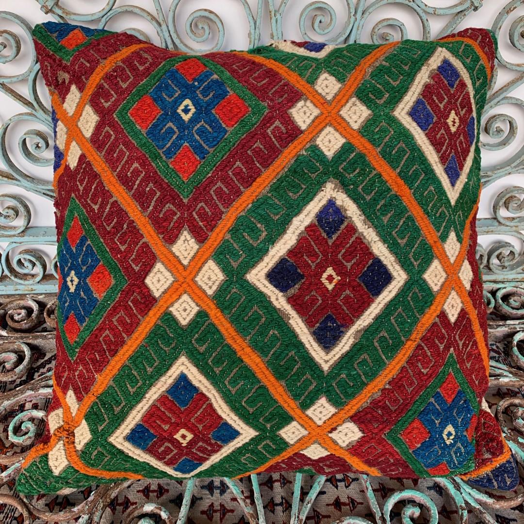 Vintage Kilim Floor Cushion-Klm146