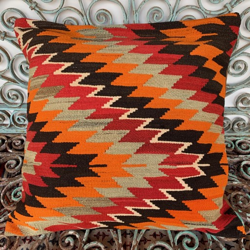 Vintage Kilim Floor Cushion-Klm147