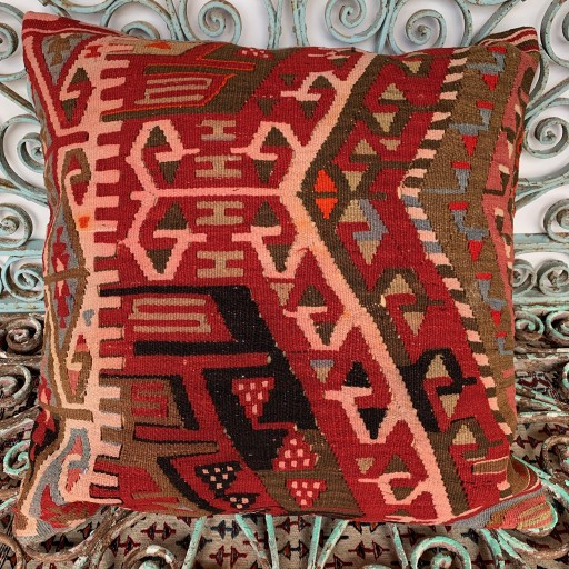Vintage Kilim Floor Cushion-Klm148